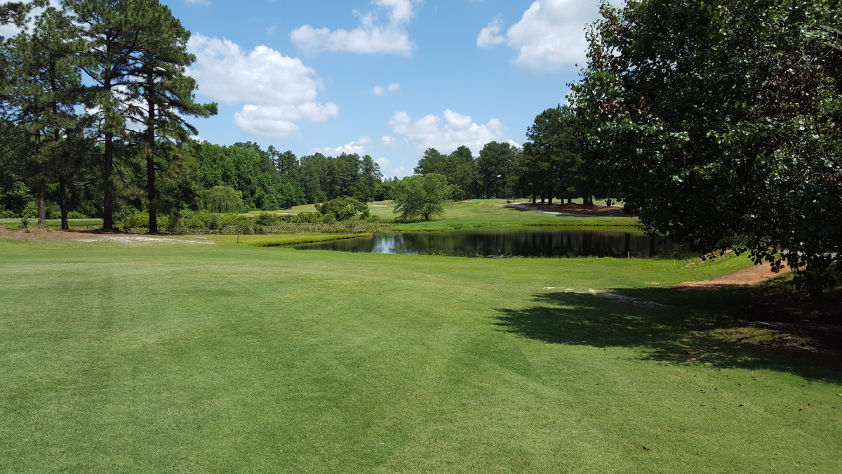 The golf green at Hartsville Country Club