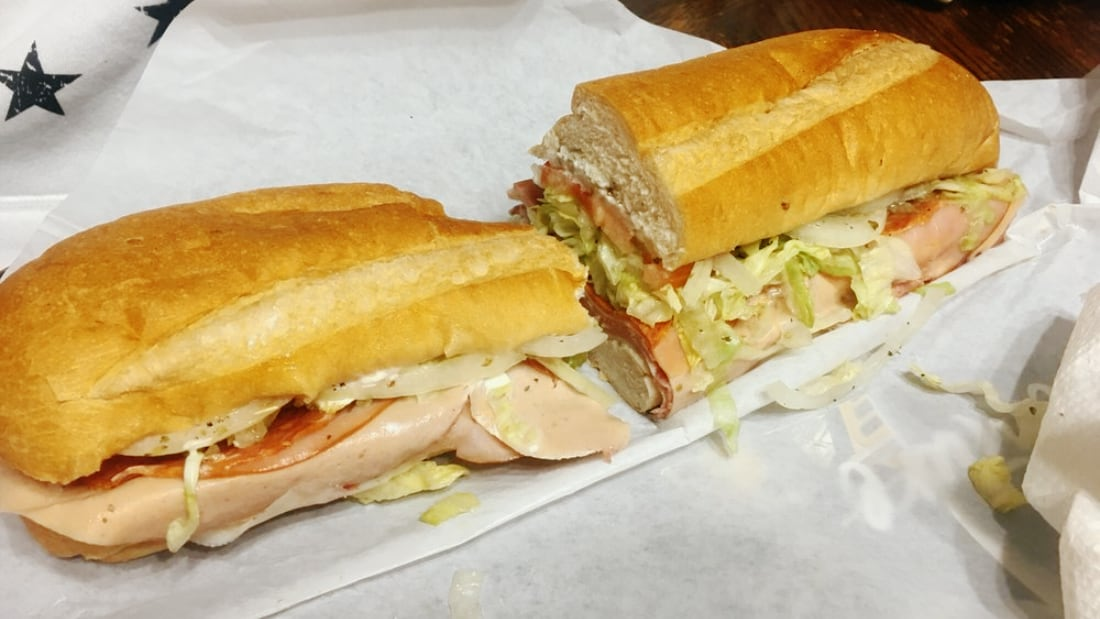 A cold cut sub from D&S. Picture provided by J. Nestor.