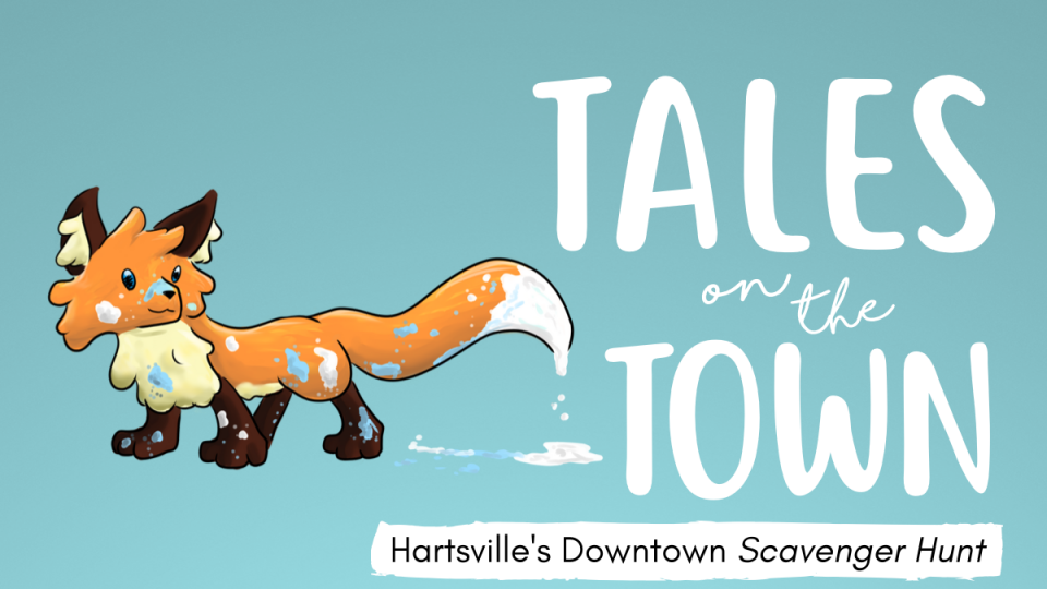 The banner image for the Tales on the Town scavenger hunt.