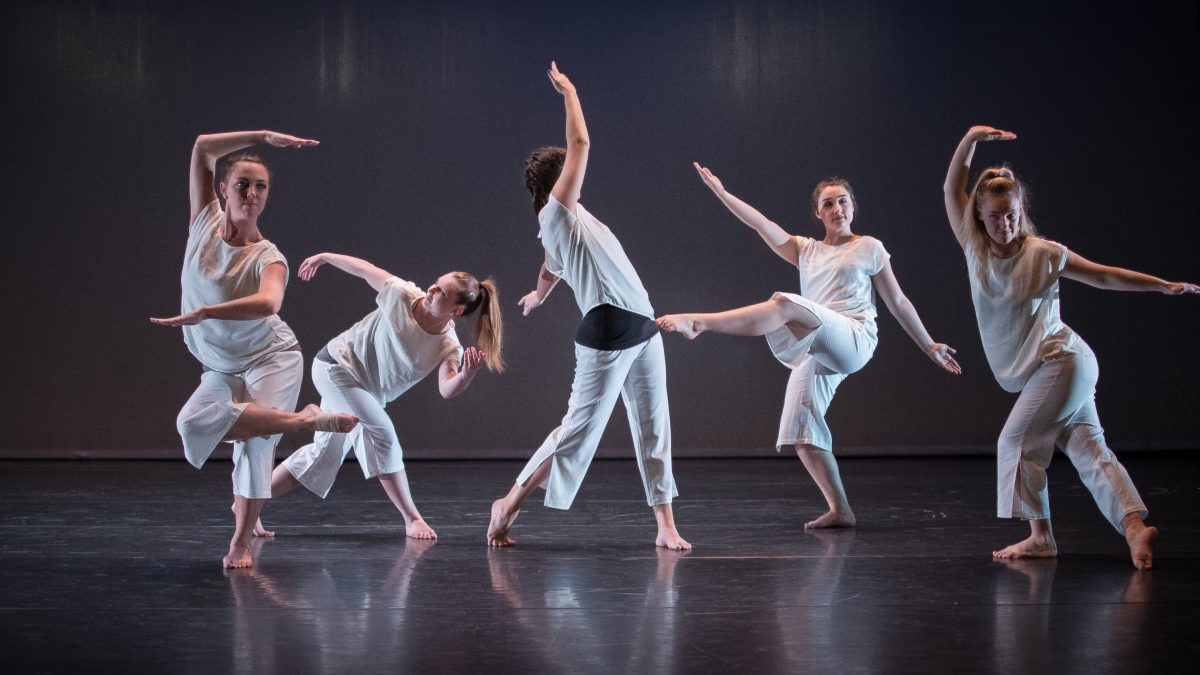 A dance performance at Coker College's Performing Arts Center