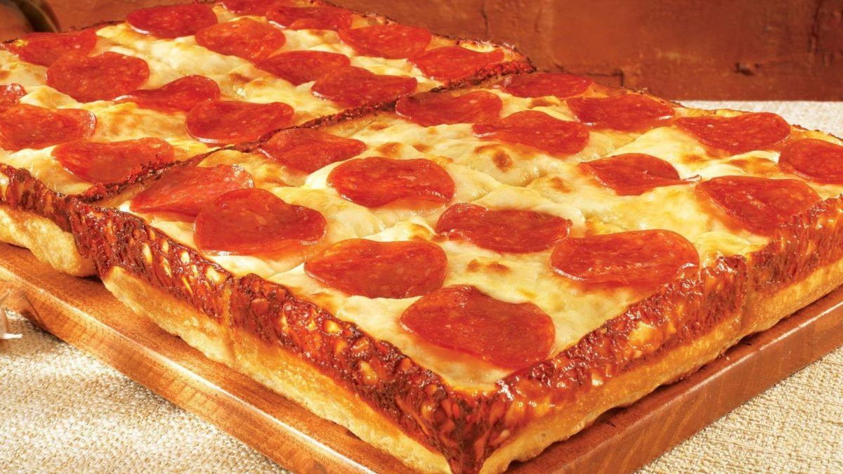 Deep dish pizza from Little Ceasars.