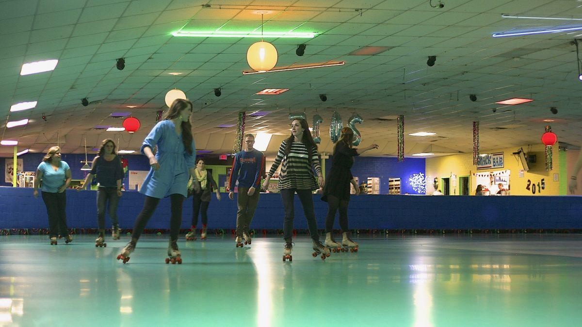 Old-school fun at the skating rink.