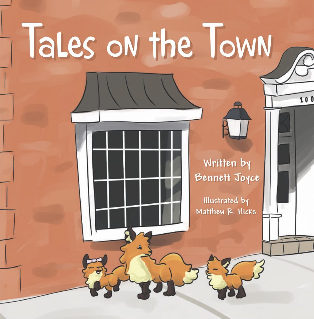 "The cover of the ""Tales on the Town"" children's book."