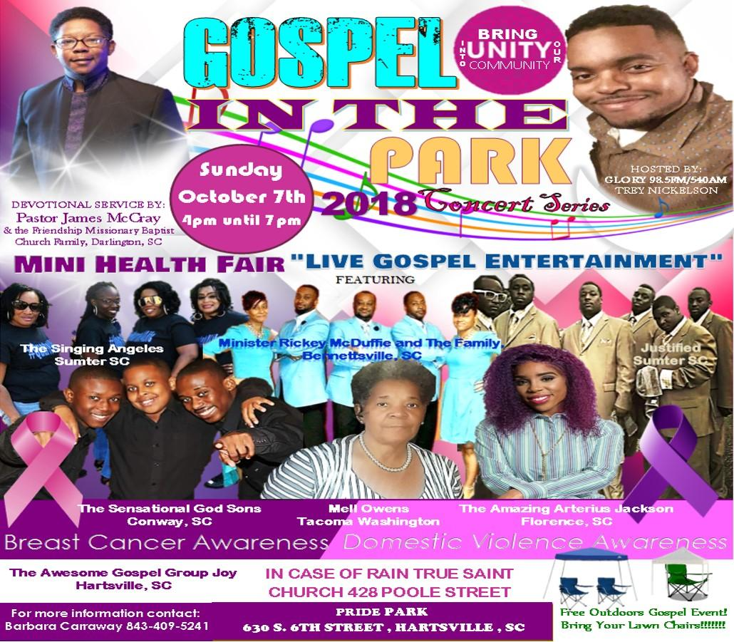 Gospel in the Park poster image