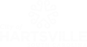 The City of Hartsville logo in white.