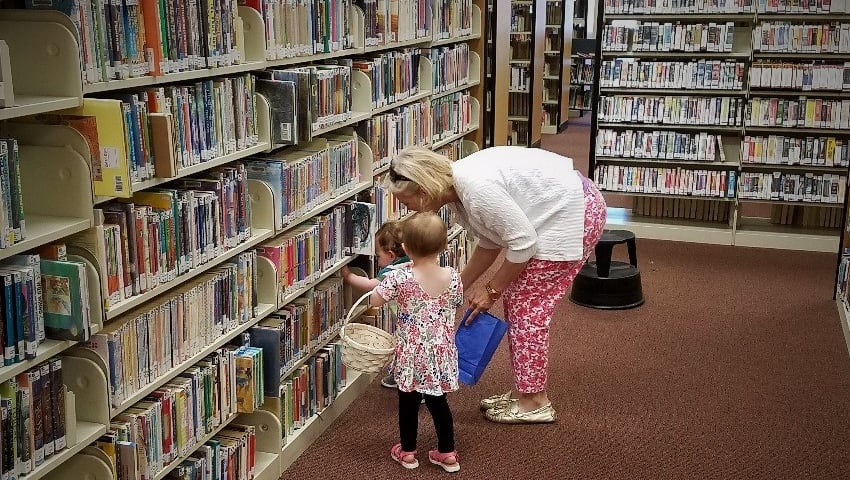 Guests look for their new favorite book at the Hartsville Memorial Library.