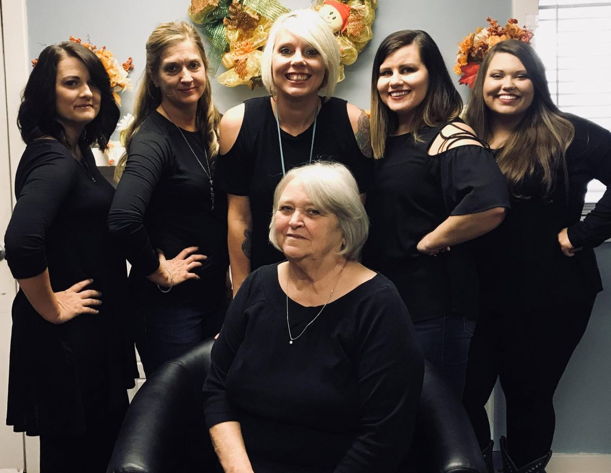 Staff at Mia Bella's salon.