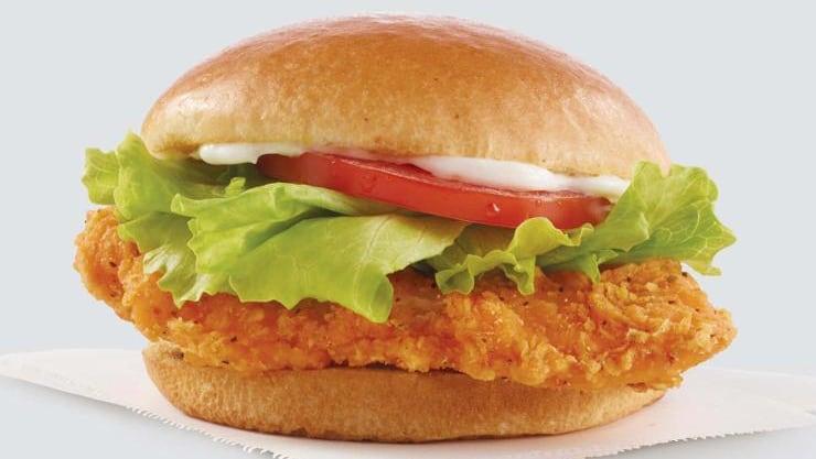 A Wendy's Spicy Chicken Sandwich.