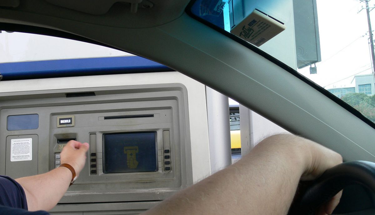 An example of a drive-through ATM.