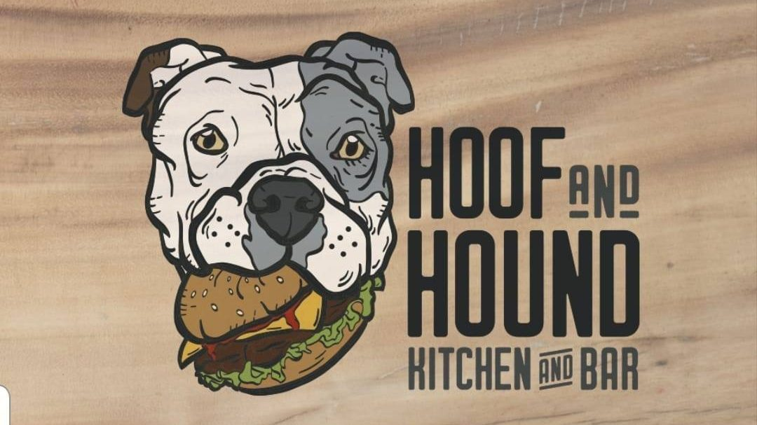 The Hoof and Hound Kitchen and Bar logo.