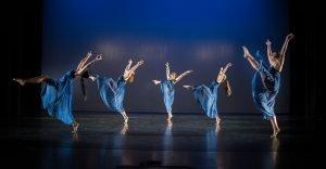 Coker dancers performing in Watson Theater.