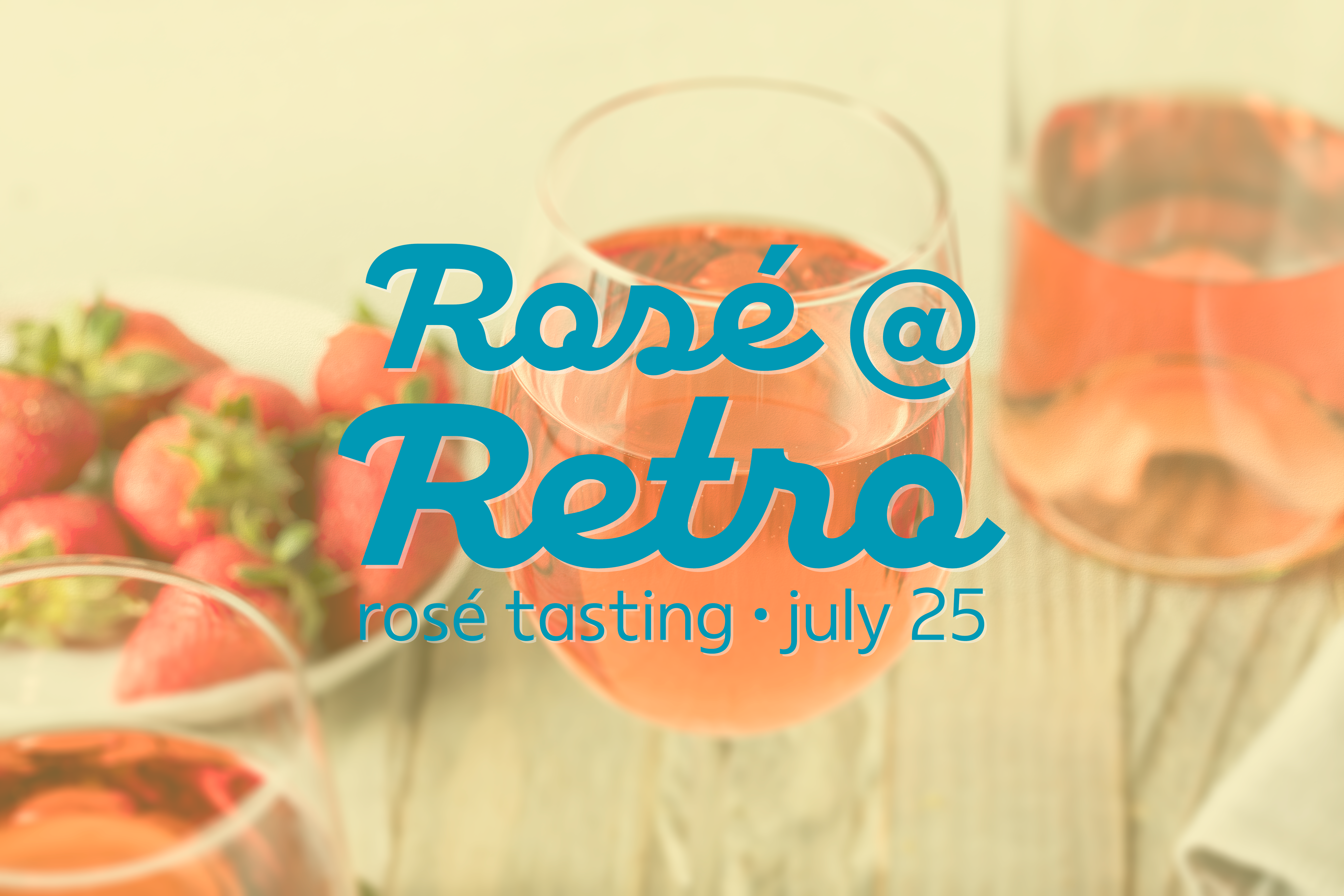 Rose wine in glasses with strawberries
